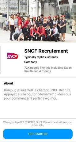 Will, le chatbot de la SNCF pour le recrutement accueille ses nouveaux abonnés.